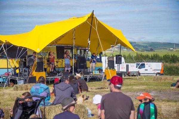 Scallywags Field Good Music Yellow Tent